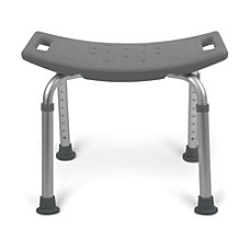 Medline Backless Aluminum Bath Benches Gray