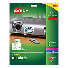 Avery Durable Full Sheet ID Labels