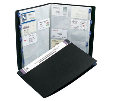 Rolodex Poly Business Card Book 480 Card Capacity 12 38 H x 9 18 W