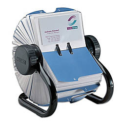 Rolodex Open Rotary Business Card File 600 Card Capacity