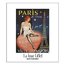 Retrospect Monthly Desk Calendar Eiffel Tower