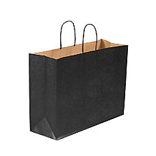 Partners Brand Black Tinted Shopping Bags