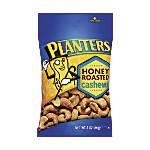 PLANTERS Honey Roasted Cashews 3 Oz