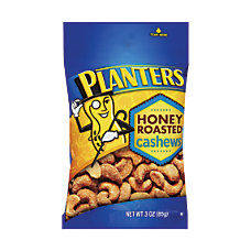 PLANTERS Honey Roasted Cashews 3 Oz