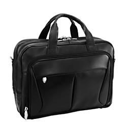 McKlein Pearson Leather Briefcase Black