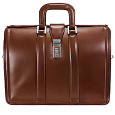 McKlein Morgan Leather Briefcase Brown