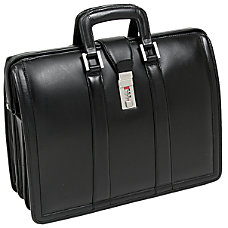 McKlein Morgan Leather Briefcase Black