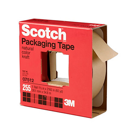 scotch paper packaging tape 1 5 core 1 5 x 60 yd kraft. Black Bedroom Furniture Sets. Home Design Ideas