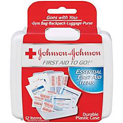Johnson Johnson First Aid To Go