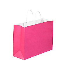 Partners Brand Cerise Tinted Shopping Bags