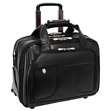 McKlein Chicago Wheeled Leather Laptop Case