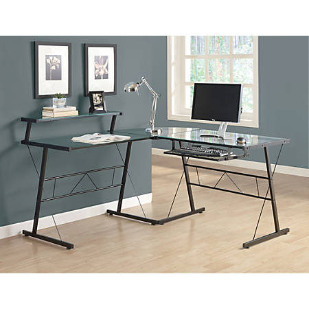 Monarch Specialties L Shaped Computer Desk 30 H x 58 W x 58 D ...