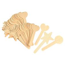 ChenilleKraft Geometric Shapes Wood Craft Sticks