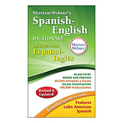 Merriam Websters Spanish English Dictionary Pack