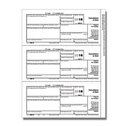 ComplyRight 1099 C InkjetLaser Tax Forms