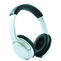 craig bluetooth wireless over the ear headphones with earbuds white by office depot officemax. Black Bedroom Furniture Sets. Home Design Ideas