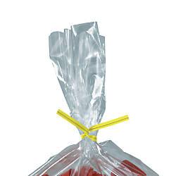 Partners Brand Yellow Plastic Twist Ties