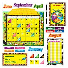 TREND Jungle Fun Calendar Bulletin Board