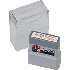 OIC Self inking Stamp MessageDate Stamp