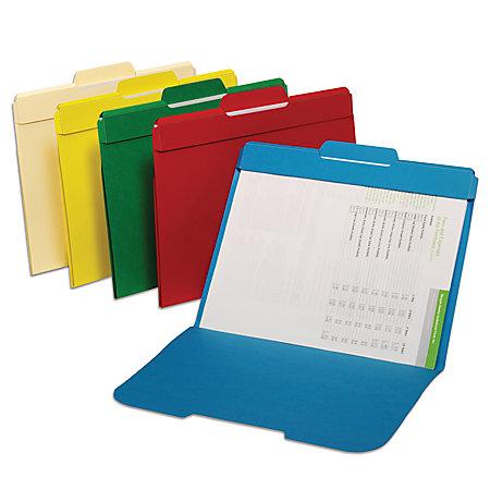 Office Depot Brand Secure Color File Folders Letter Size