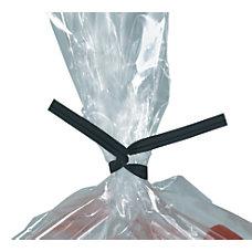 Partners Brand Black Plastic Twist Ties