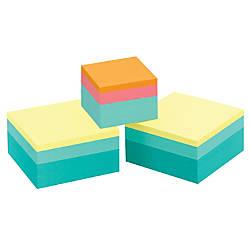 "Post-it® Notes Cubes PLUS Bonus Cube, 3"" x 3"", Sweet Pea Collection, 400 Sheets Per Cube, Pack Of 2 + 1 2"" x 2"" Bonus Cube"