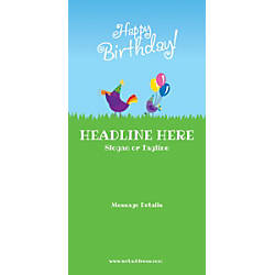 Custom Vertical Banner Birthday Birds