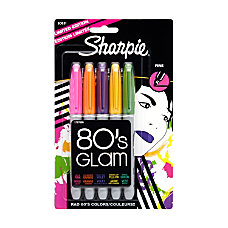 Sharpie 80s Glam Permanent Markers Fine
