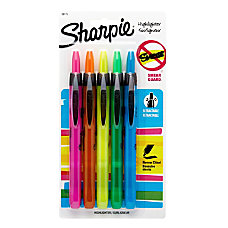 Sharpie Accent Retractable Highlighters Assorted Colors