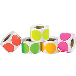 Tape Logic Inventory Fluorescent Circles Labels