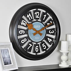 FirsTime Parisian Plaque Round Wall Clock