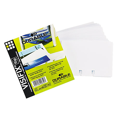 Visifix business card pocket refills pack of 80 by office for Home depot business cards