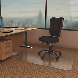 deflecto Economat Chairmats Carpeted Floor 53