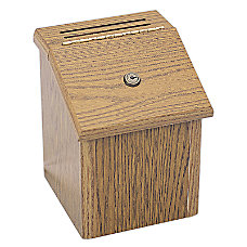Safco Wood Suggestion Box 9 34