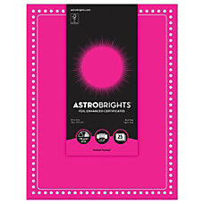 Astrobrights Foil Enhanced Certificates Dots Design