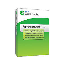 QuickBooks Accountant 2015 For Windows Traditional