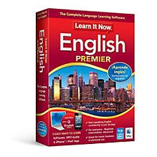 Learn It Now English Premier Mac