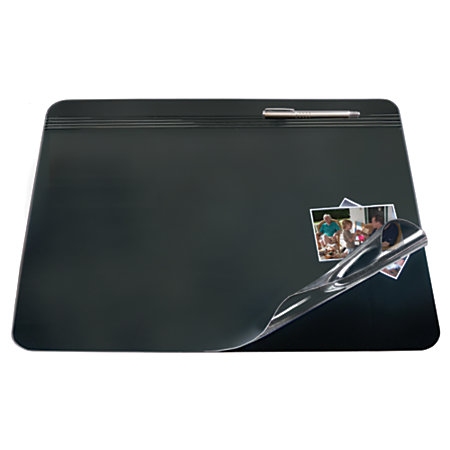 Office Depot Brand Overlay Desk Pad 20 X 31 Blackclear By