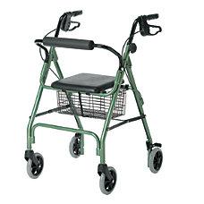 Guardian Economy Rollator 6 Wheels Green