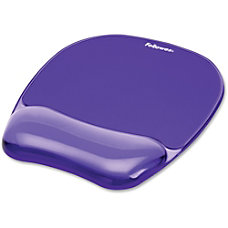 Fellowes Gel Crystals MousepadWrist Rest Purple