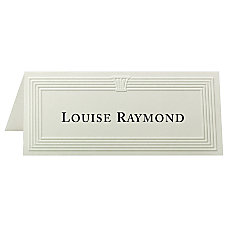 First Base Overtures Embossed Tent Cards