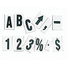 Quartet Magnetic Letters Symbols blackwhite Set