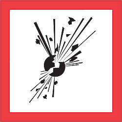 Tape Logic Pictogram Labels Exploding Bomb