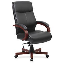 Lorell Executive Chair Black Mahogany 27