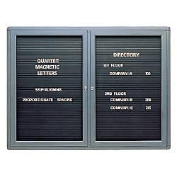 Quartet Enclosed Magnetic Letter Board 48