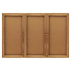 Quartet Fully Enclosed Bulletin Board 3