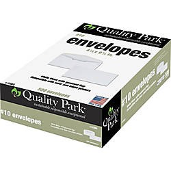 Quality Park Laser/Inkjet Regular Business Envelopes - #10 (4.13