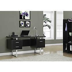 Monarch Retro Style Computer Desk Cappuccino