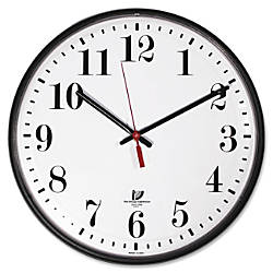 Wall Clock White Dial Face Clear