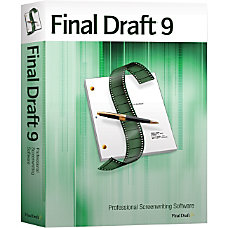 Final Draft v90 Complete Product 1